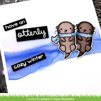 Otterly Cozy Winter by Jessica Frost-Ballas for Lawn Fawnatics