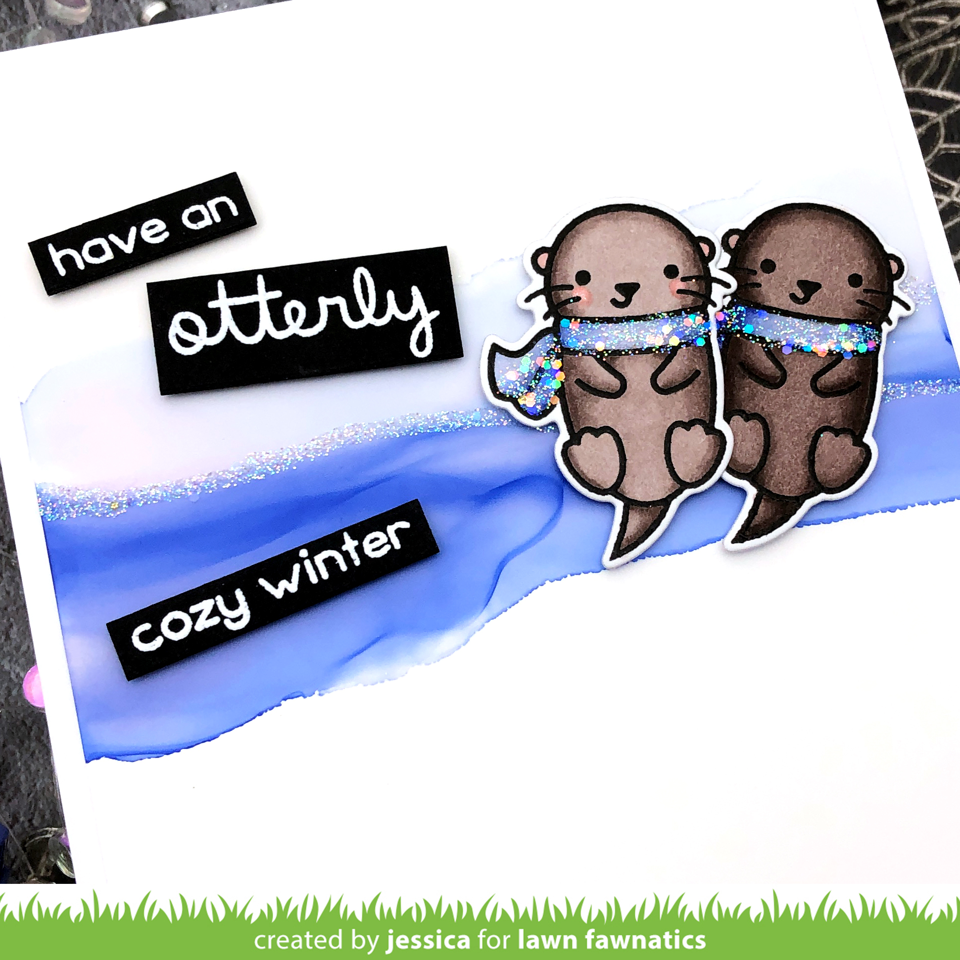 Otterly Cozy Winter by Jessica Frost-Ballas for Lawn Fawnatics