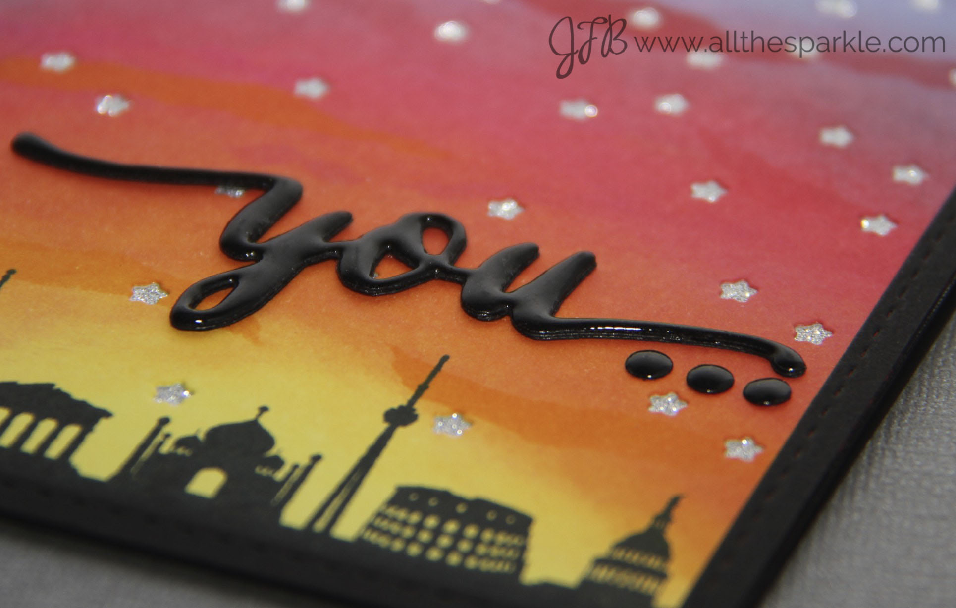 A Blog Named Hero: Anniversary Distress Ink Card