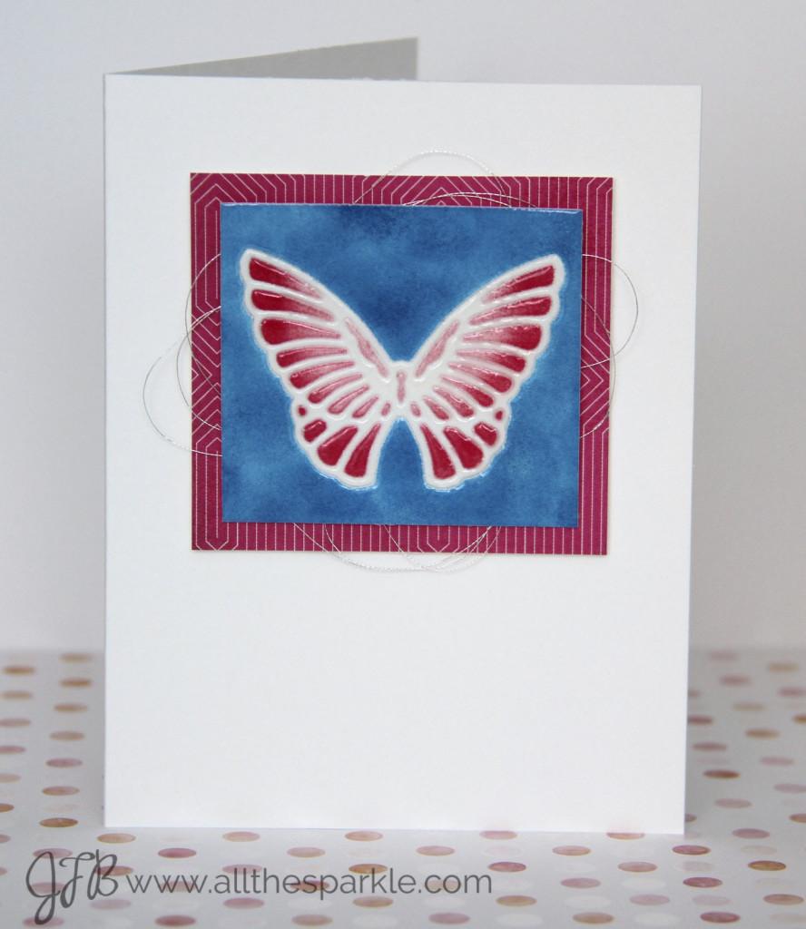Online Card Class: Clean and Simple 4 Faux Ceramic tile www.allthesparkle.com