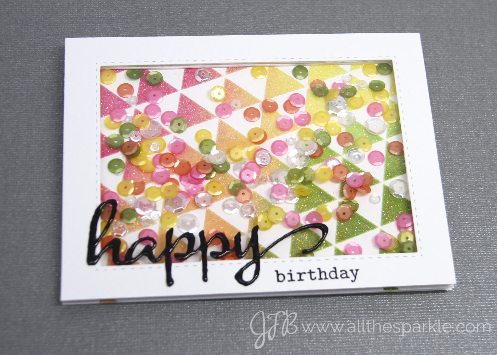 Winnie & Walter Birthday Bash shaker challenge www.allthesparkle.com