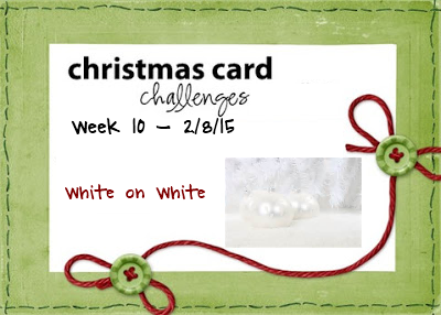 Christmas Card Challenges #10 White on White www.allthesparkle.com