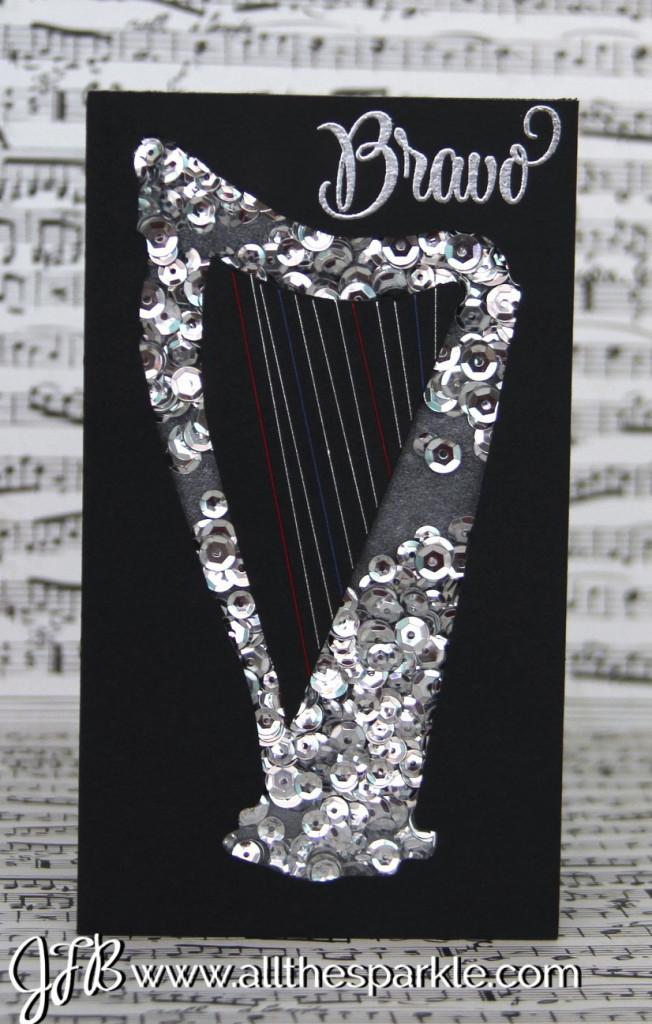 harp shaker card www.allthesparkle.com