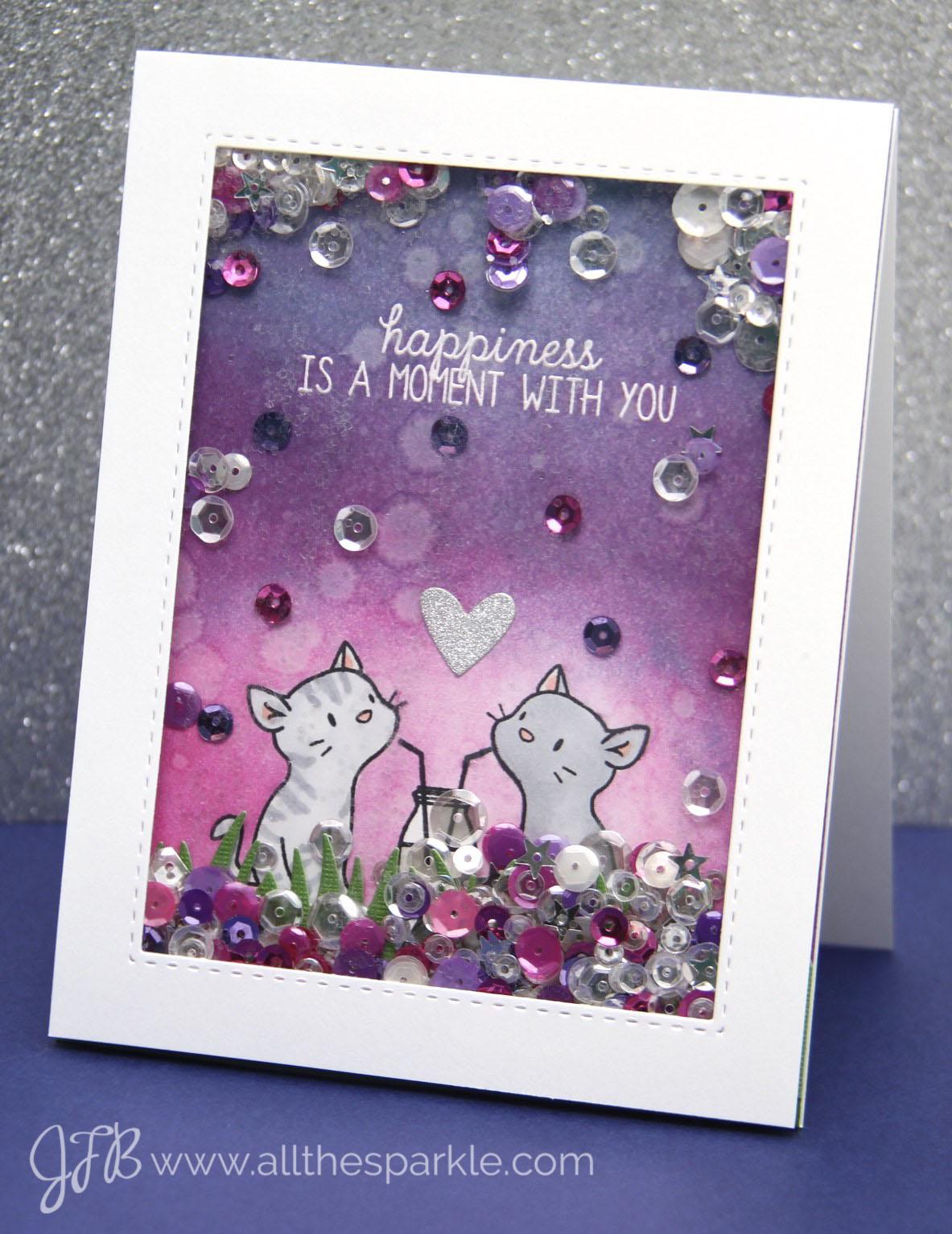 valentine's shaker card www.allthesparkle.com