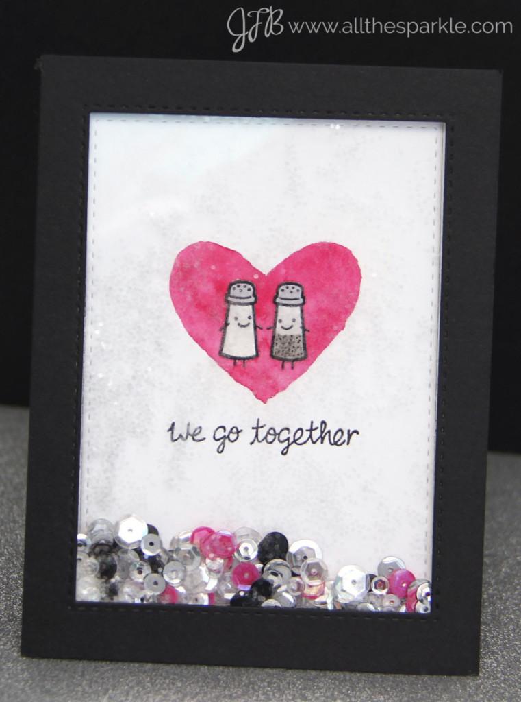 Valentine's Day shaker card www.allthesparkle.com