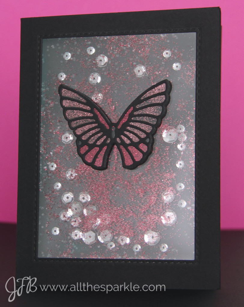 Butterfly Shaker Card www.allthesparkle.com