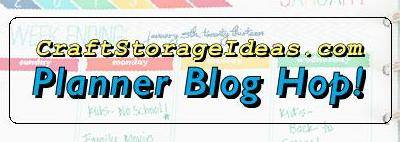 Craft Storage Ideas Planner Blog Hop