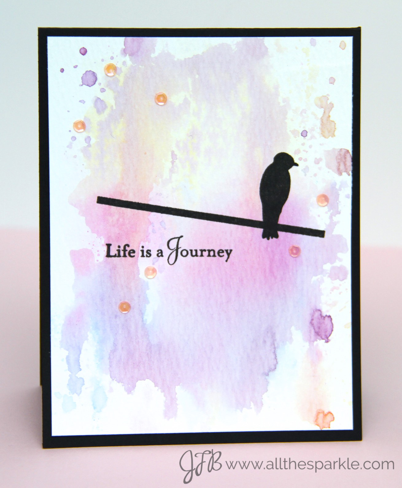 PTI Make it Monday Watercolor Smooshing https://www.allthesparkle.com/pti-make-it-monday-204/
