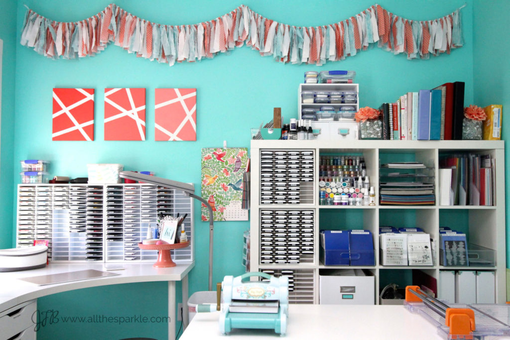 Craft Room Tour - Jessica Frost-Ballas www.allthesparkle.com/craftroomtour2015