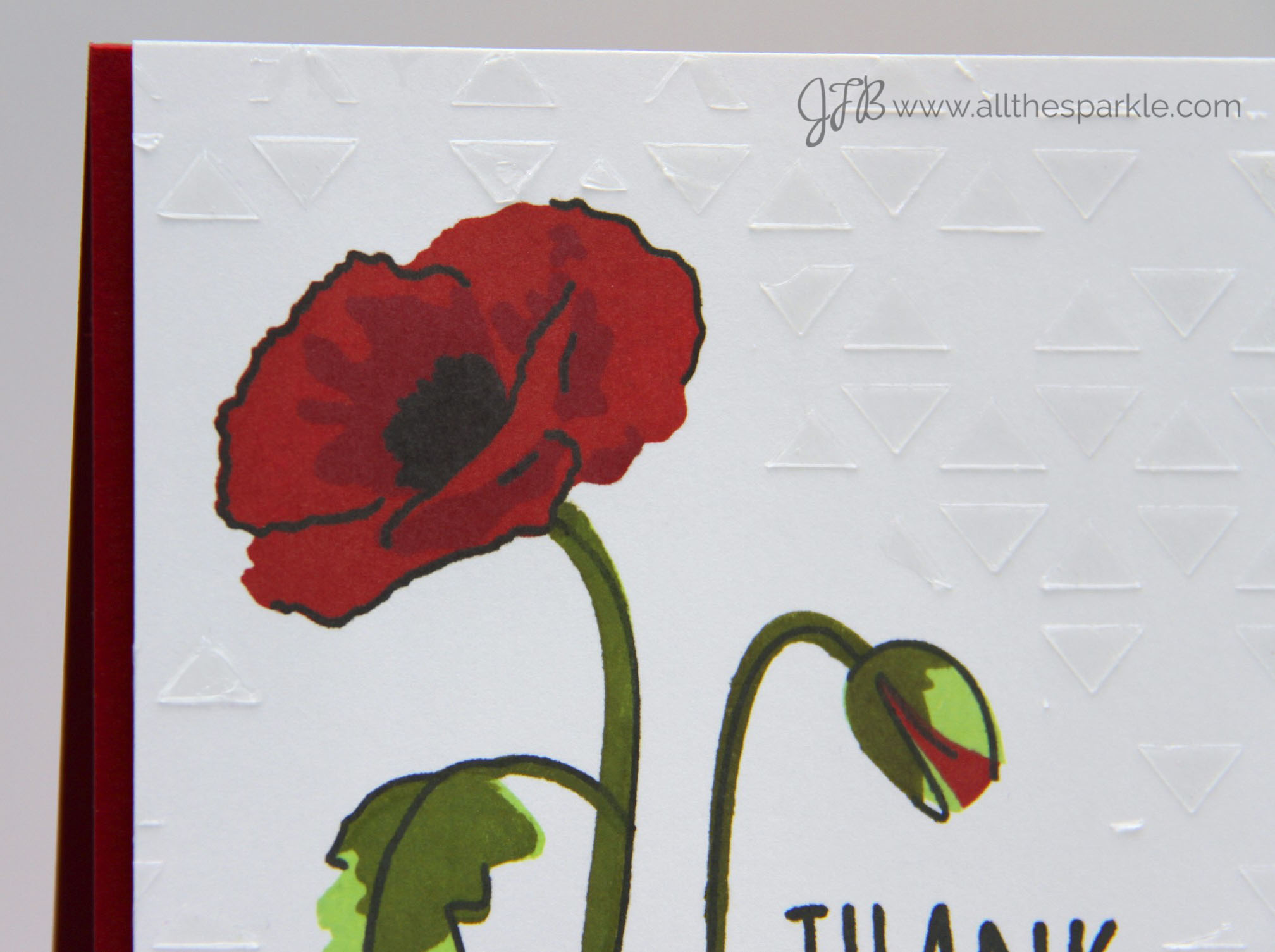 A Blog Named Hero: Poppies and Texture Paste!