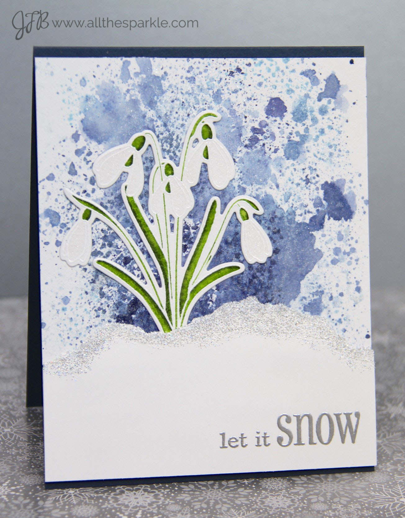 www.allthesparkle.com Christmas Card Challenges Clearly Besotted Winter Blooms