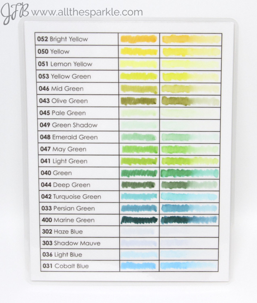 Zig Clean Color Real Brush Swatch Chart http://wp.me/p5FZxV-Z0