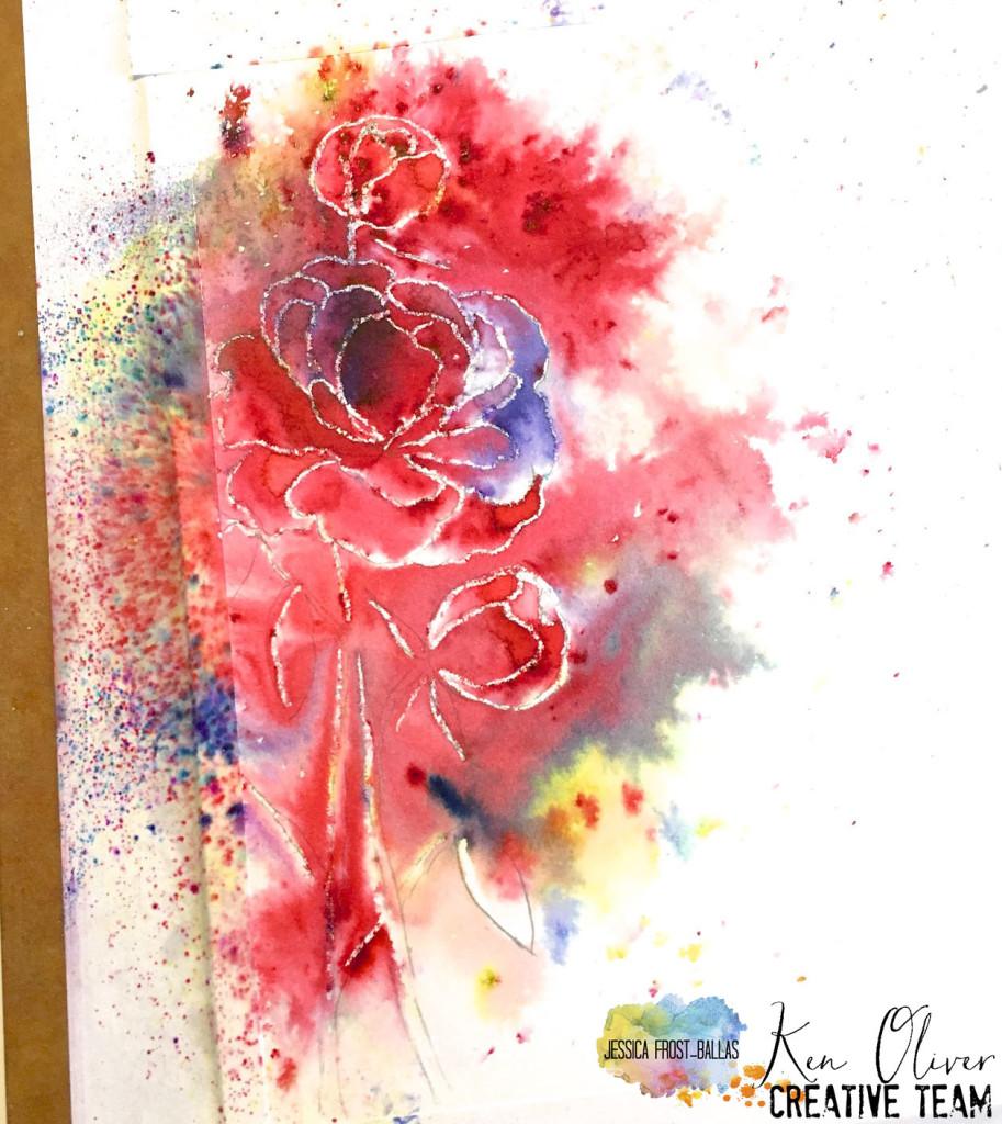 ColorBurst Shaker Card www.allthesparkle.com