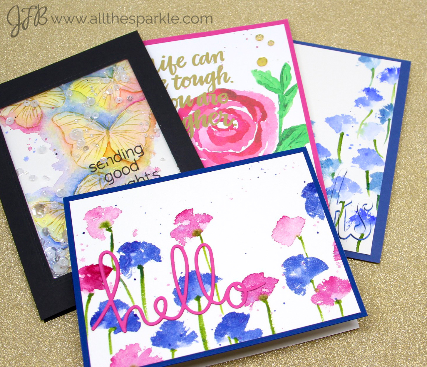 Online Card Classes: Watercolors for CardMakers – Intermediate Techniques Days 2 and 3