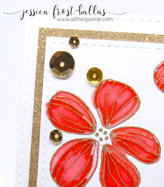 A Blog Named Hero: Red and Gold Layered Florals