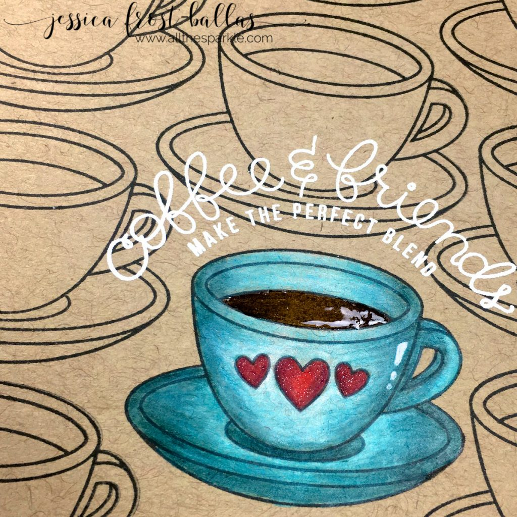 Coffee and Friends by Jessica Frost-Ballas for Simon Says Stamp