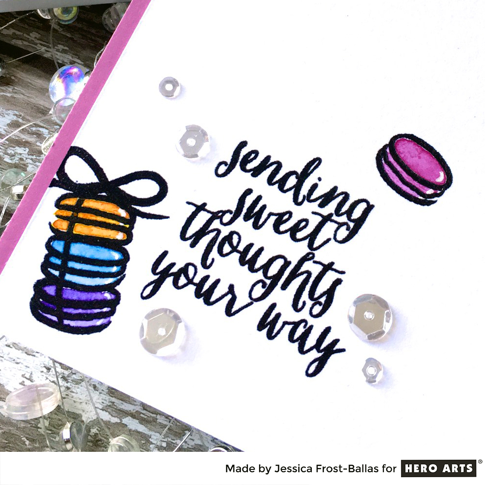 Sending Sweet Thoughts Your Way by Jessica Frost-Ballas for Hero Arts