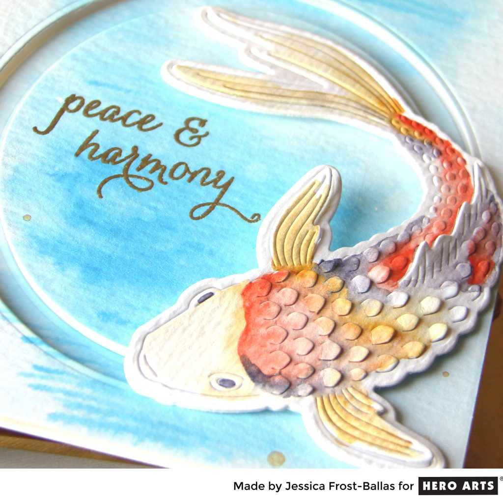 Wishing You Peace and Harmony with the Paper-Layering Koi by Jessica Frost-Ballas for Hero Arts