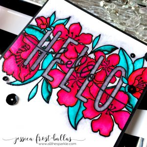 Botanic Hello by Jessica Frost-Ballas for Simon Says Stamp