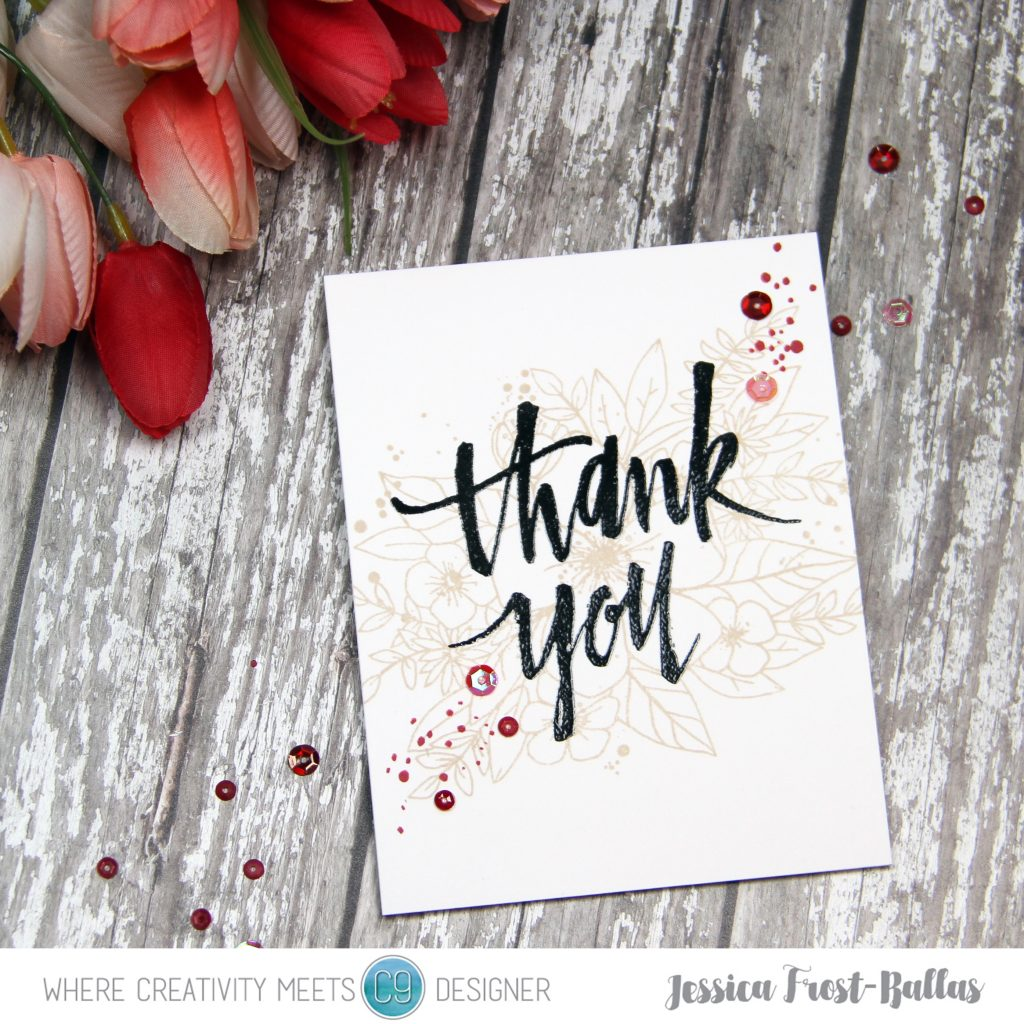 Thank You by Jessica Frost-Ballas for Where Creativity Meets C9