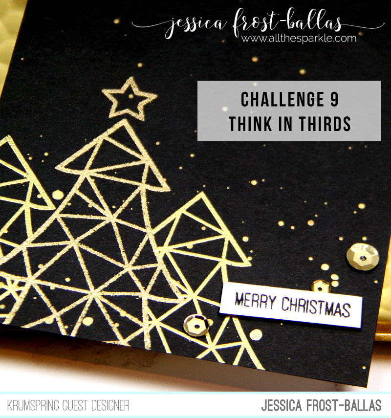Merry Christmas by Jessica Frost-Ballas for Krumspring Stamps
