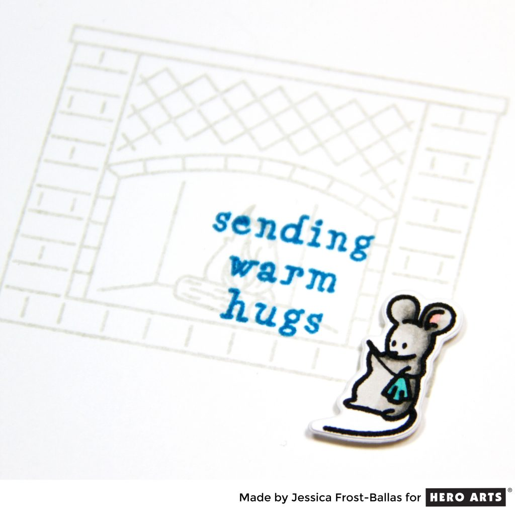 Sending Warm Hugs by Jessica Frost-Ballas for Hero Arts
