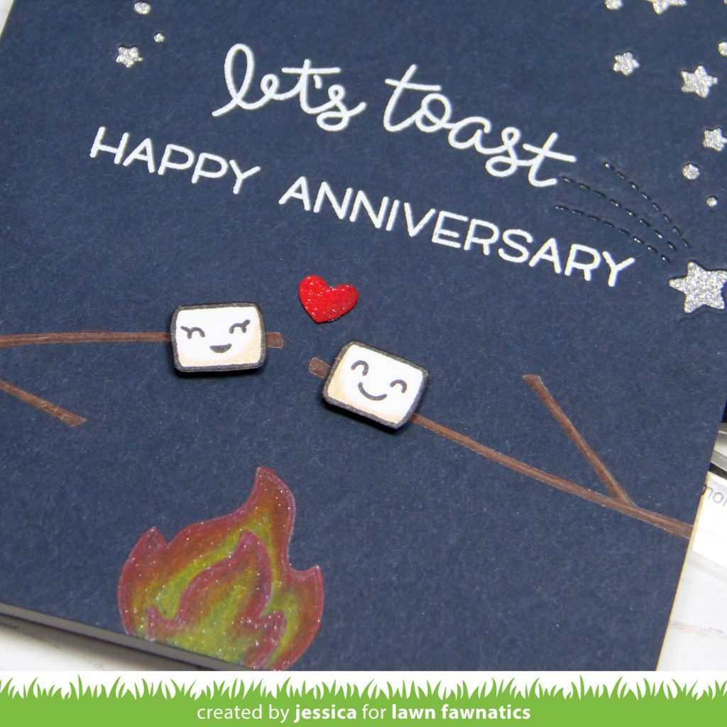 Let's Toast by Jessica Frost-Ballas for Lawn Fawnatics