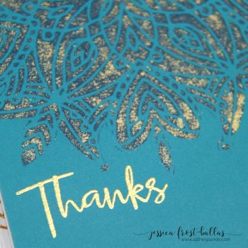 Faux Gold Leaf Stenciling for the Simon Says Stamp Cherished Release (VIDEO)