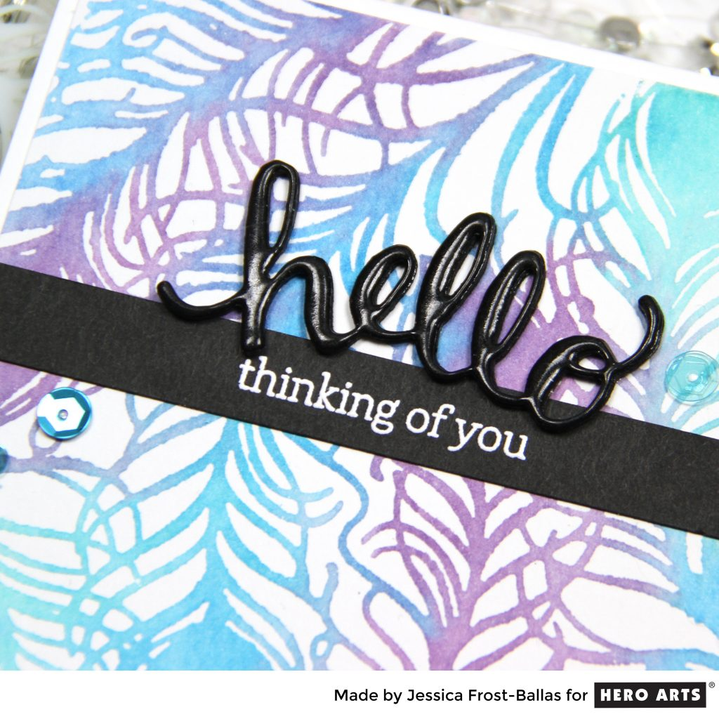 Hello Thinking of You by Jessica Frost-Ballas for Hero Arts