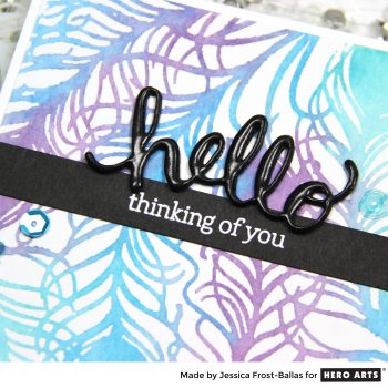 """Hero Arts: Watercolor """"Stamping"""" with Stencils"""