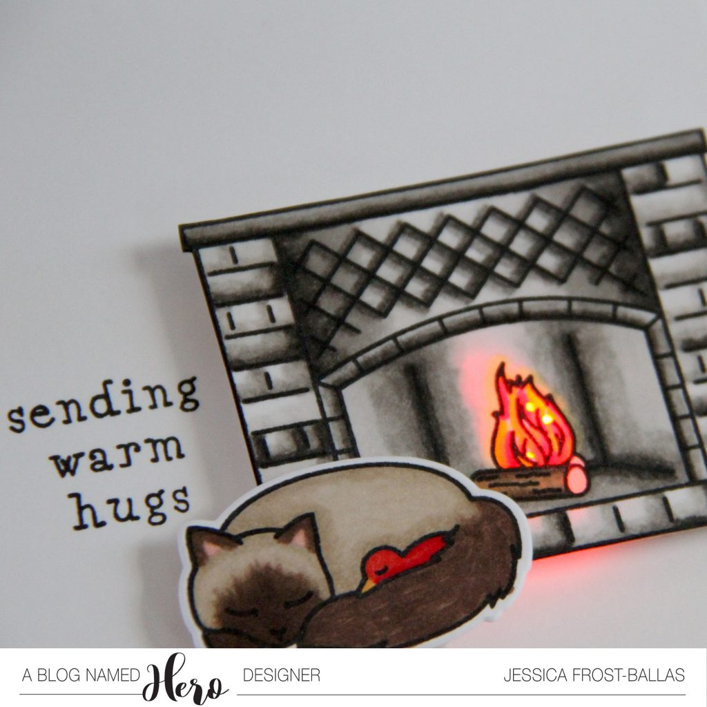 Sending Warm Hugs by Jessica Frost-Ballas for A Blog Named Hero