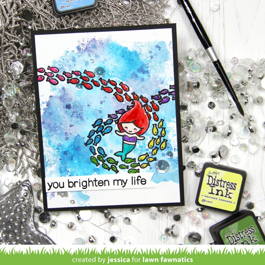 You Brighten My Life by Jessica Frost-Ballas for Lawn Fawnatics