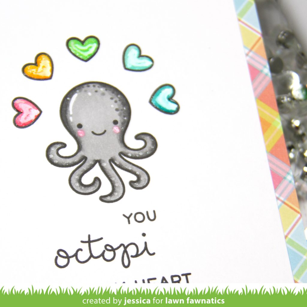 You Octopi My Heart by Jessica Frost-Ballas for Lawn Fawnatics