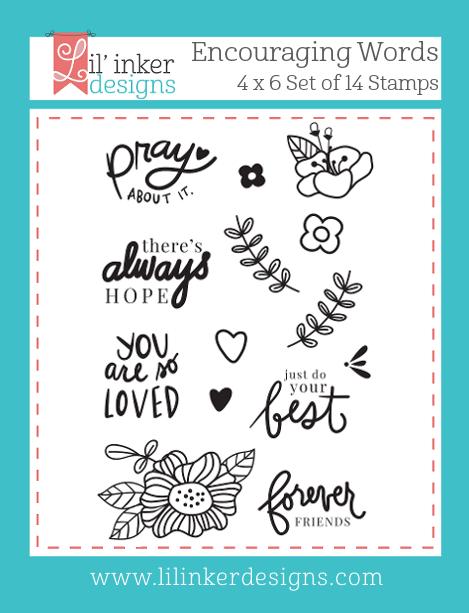 Lil' Inker Designs Encouraging Words Stamps