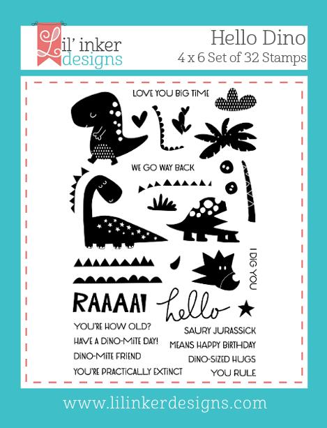 Lil' Inker Designs Hello Dino Stamps