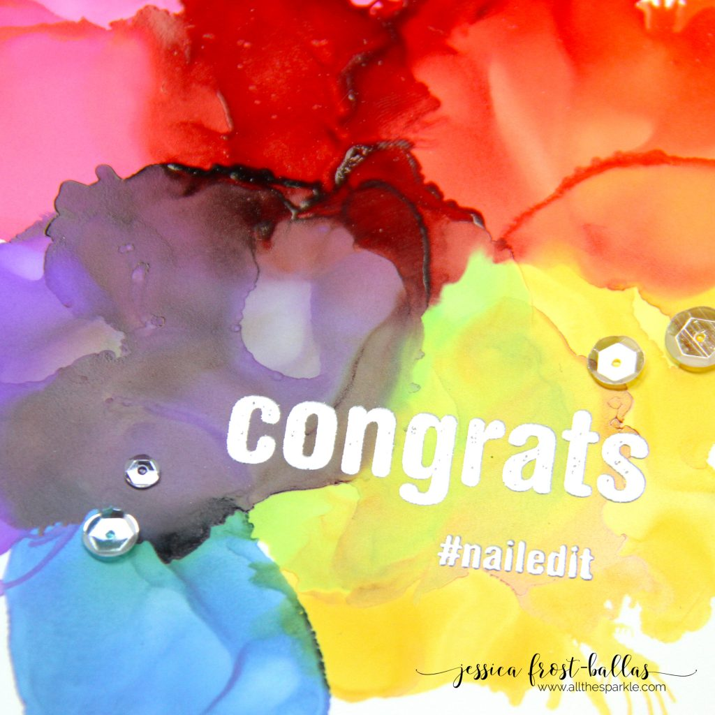 Congrats Nailed It by Jessica Frost-Ballas for Simon Says Stamp