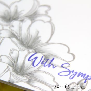 One Layer Sympathy Card with Simon Says Stamp