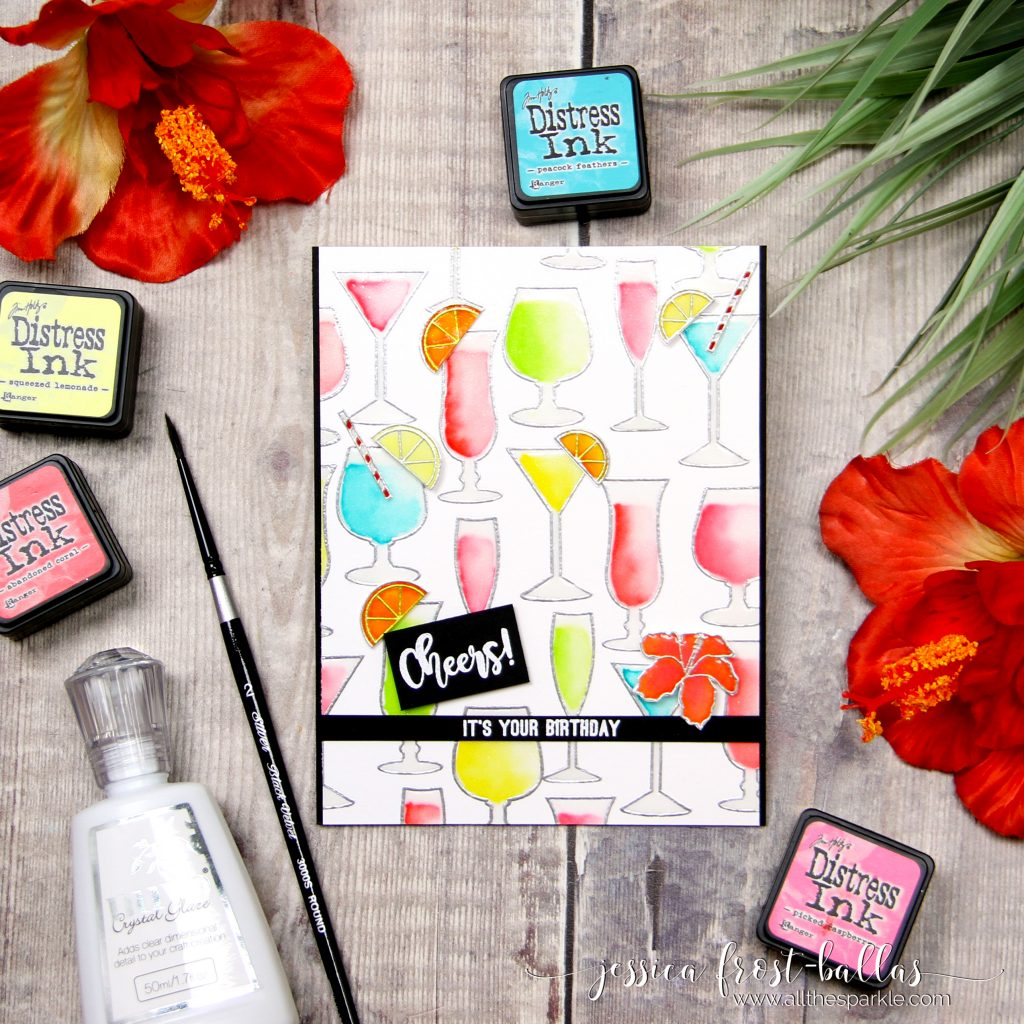 Cheers by Jessica Frost-Ballas for Krumspring Stamps