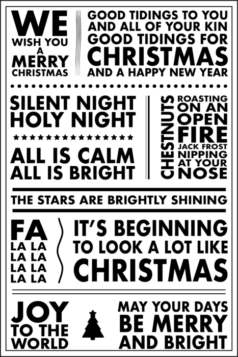 Hero Arts Poster Christmas Carols