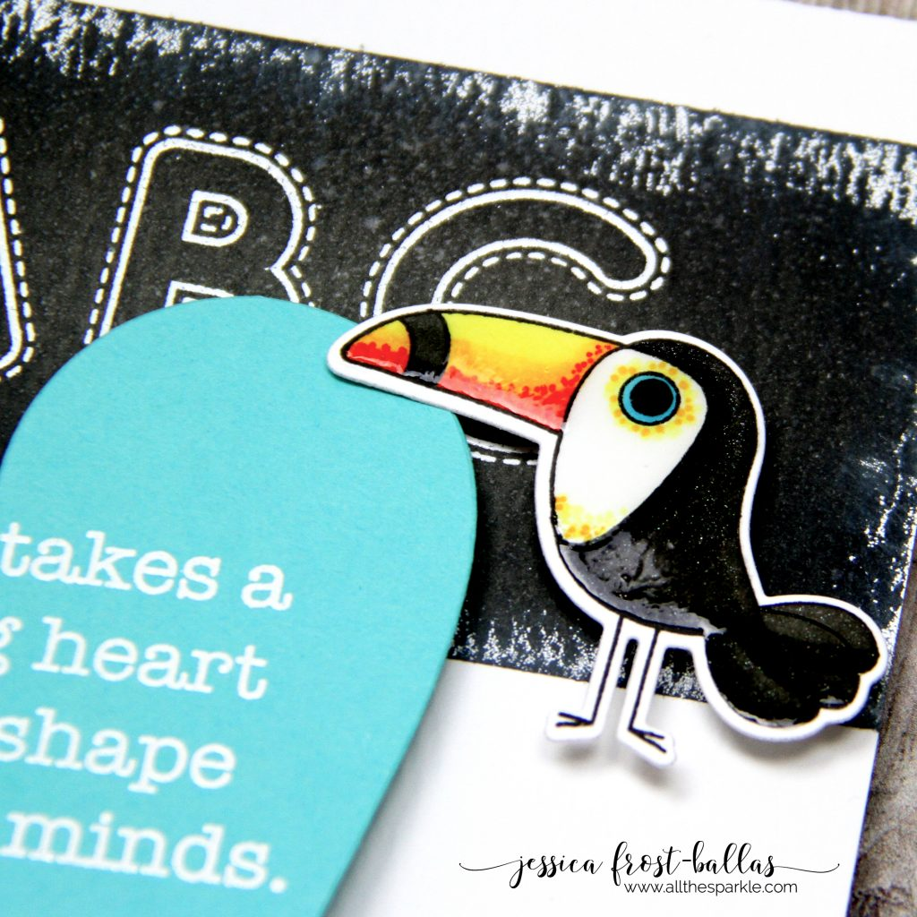 It Takes a Big Heart to Shape Little Minds by Jessica Frost-Ballas for Simon Says Stamp