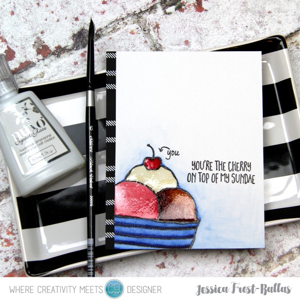 You're the Cherry On Top of My Sundae by Jessica Frost-Ballas for Where Creativity Meets C9