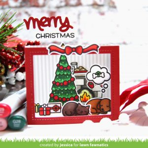 Merry Christmas by Jessica Frost-Ballas for Lawn Fawnatics