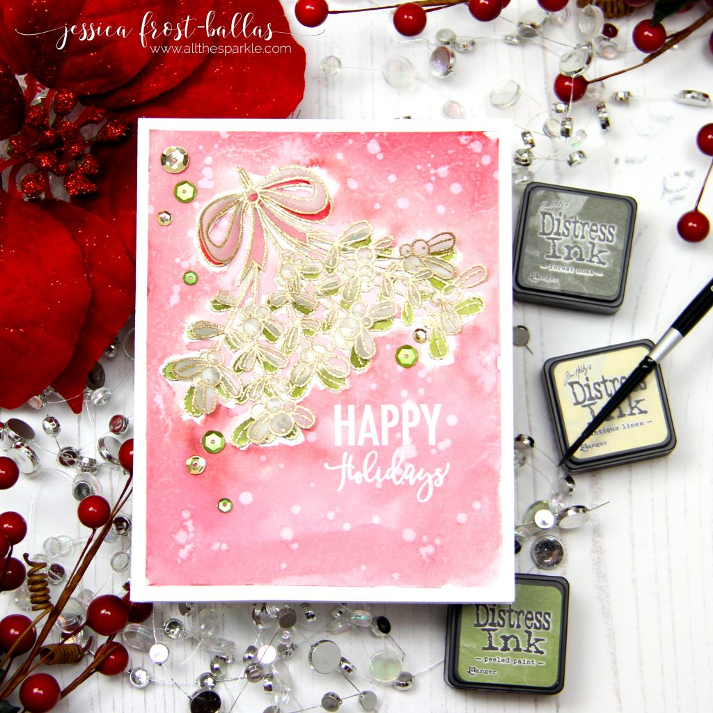 Happy Holidays by Jessica Frost-Ballas for Simon Says Stamp