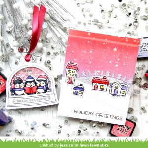 Holiday Greetings by Jessica Frost-Ballas for Lawn Fawnatics