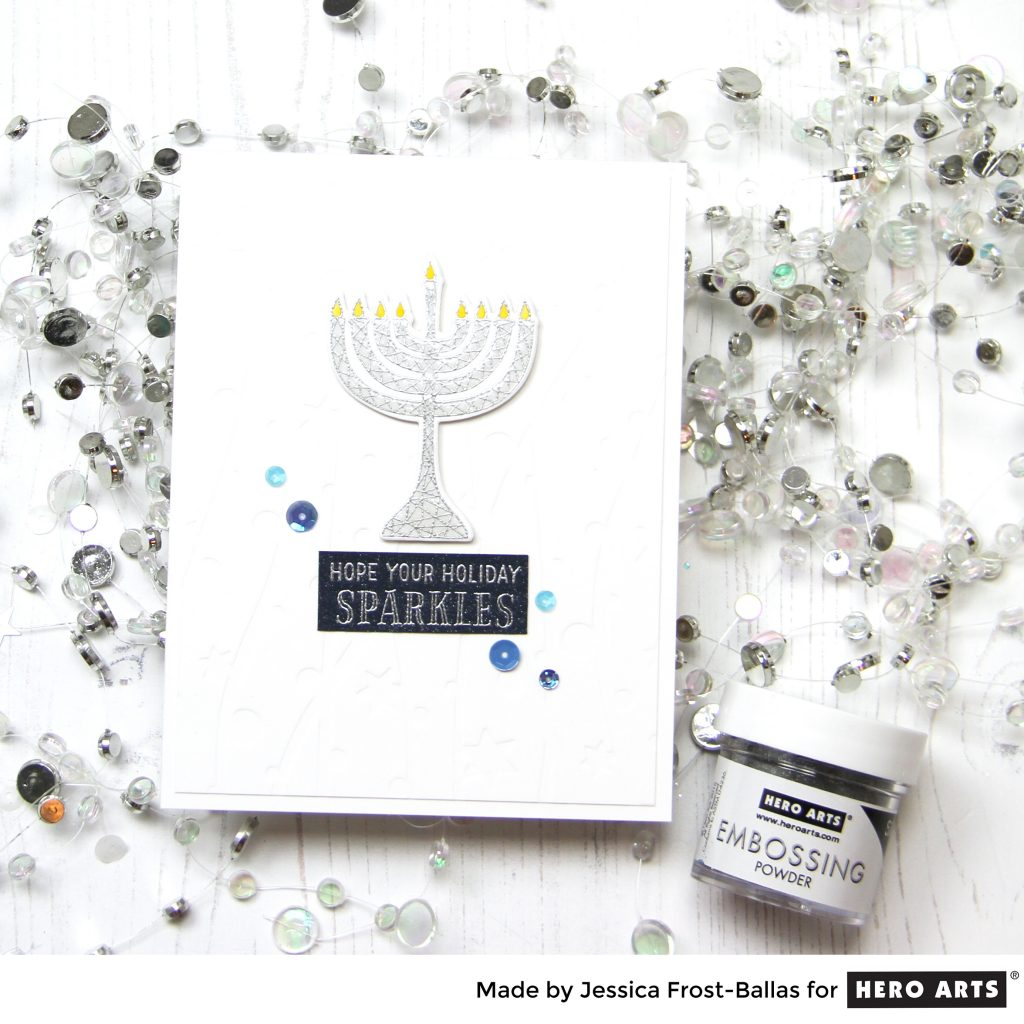 Happy Hanukkah by Jessica Frost-Ballas for Hero Arts