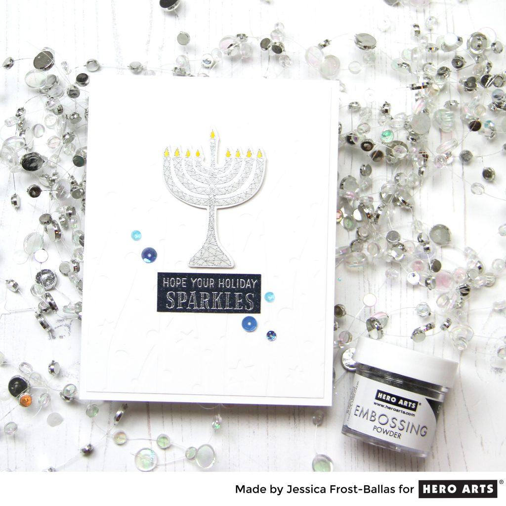 Happy Hanukkah by Jessica Frost-Ballas for Hero Arts