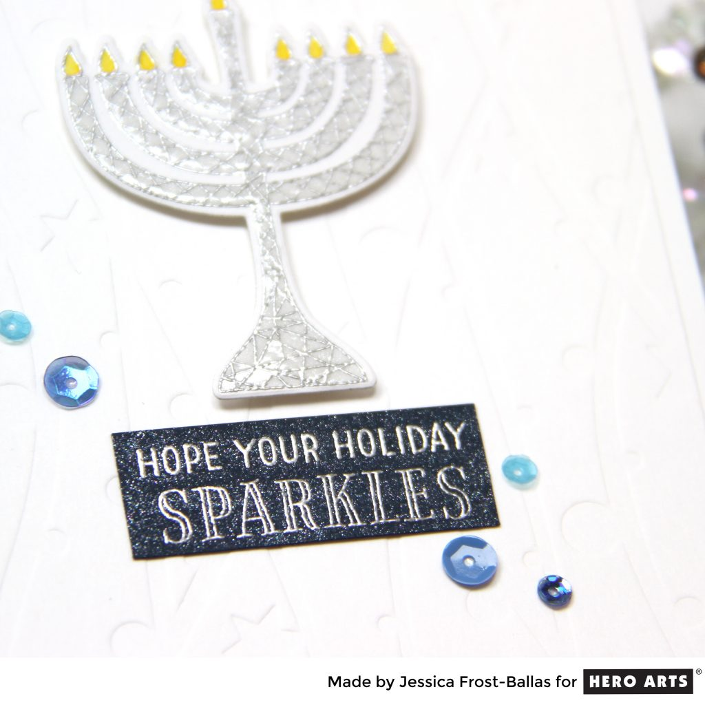 Hope Your Holiday Sparkles by Jessica Frost-Ballas for Hero Arts