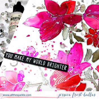 Coloring Heat-Embossed Images with Alcohol Inks (+VIDEO and GIVEAWAY!)