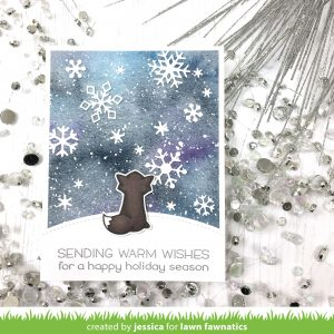 Sending Warm Wishes by Jessica Frost-Ballas for Lawn Fawnatics
