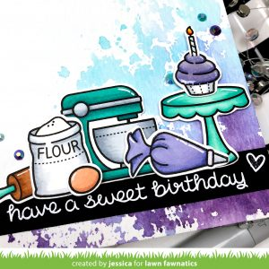Have a Sweet Birthday by Jessica Frost-Ballas for Lawn Fawnatics